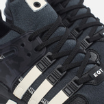 Мужские кроссовки adidas Consortium x Undefeated EQT Support ADV Core Black/Cream White/Dark Grey фото- 5