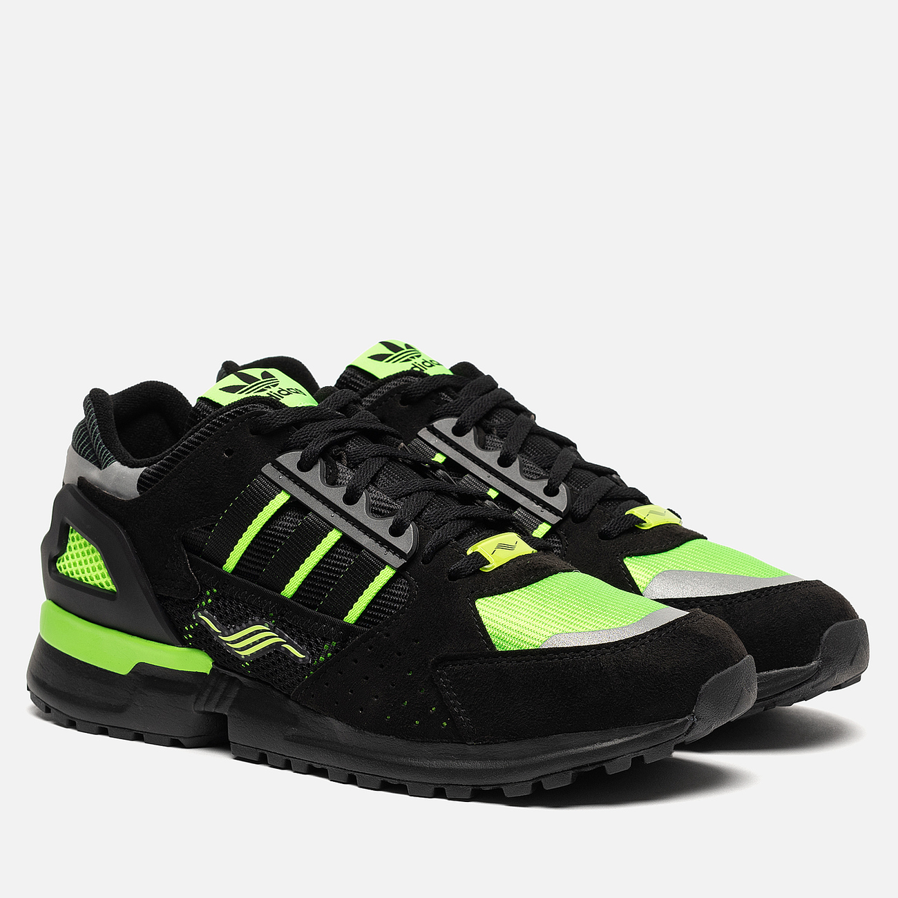 Мужские кроссовки adidas Consortium ZX 10.000 C Core Black/Solar Green/Reflective