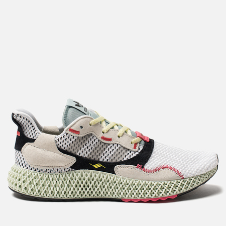 6112d2ff2306 Мужские кроссовки adidas Consortium ZX 4000 4D White Grey Two Linen Green