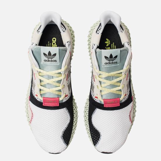 Мужские кроссовки adidas Consortium ZX 4000 4D White/Grey Two/Linen Green