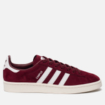 Кроссовки adidas Originals Campus Collegiate Burgundy/White/Chalk White фото- 0