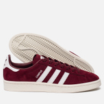 Кроссовки adidas Originals Campus Collegiate Burgundy/White/Chalk White фото- 2