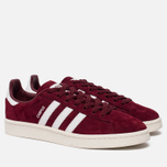 Кроссовки adidas Originals Campus Collegiate Burgundy/White/Chalk White фото- 1