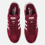 Кроссовки adidas Originals Campus Collegiate Burgundy/White/Chalk White фото- 4