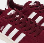 Кроссовки adidas Originals Campus Collegiate Burgundy/White/Chalk White фото- 5