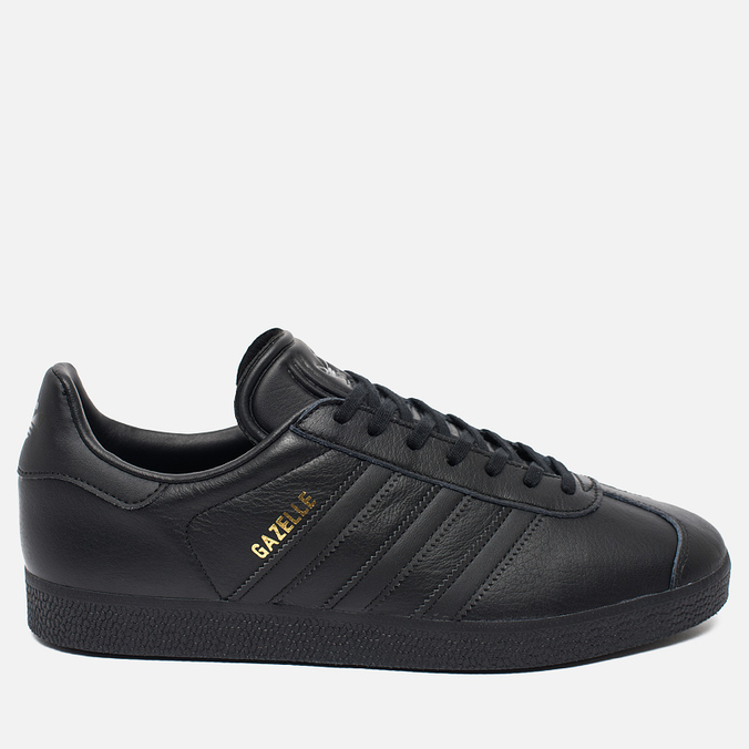 Мужские кроссовки adidas Originals Gazelle Core Black/Gold Met
