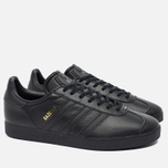 Мужские кроссовки adidas Originals Gazelle Core Black/Gold Met фото- 1