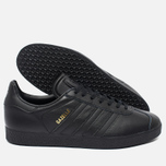 Мужские кроссовки adidas Originals Gazelle Core Black/Gold Met фото- 2