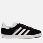 Кроссовки adidas Originals Gazelle Black/White/Gold Metallic фото- 0