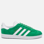 Кроссовки adidas Originals Gazelle Green/White/Gold Metallic фото- 0