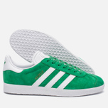 Кроссовки adidas Originals Gazelle Green/White/Gold Metallic фото- 1