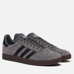 Мужские кроссовки adidas Originals Gazelle Grey/Core Black/Gum