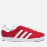 Кроссовки adidas Originals Gazelle Red/White/Gold Metallic фото- 0