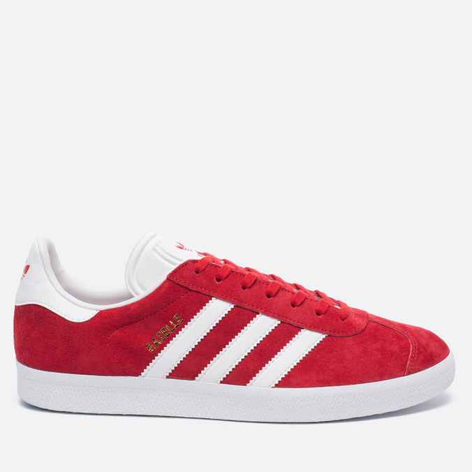 Кроссовки adidas Originals Gazelle Red/White/Gold Metallic
