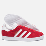 Кроссовки adidas Originals Gazelle Red/White/Gold Metallic фото- 1