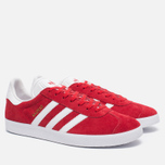 Кроссовки adidas Originals Gazelle Red/White/Gold Metallic фото- 2