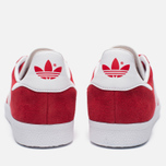 Кроссовки adidas Originals Gazelle Red/White/Gold Metallic фото- 3