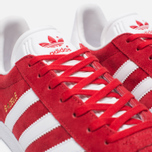Кроссовки adidas Originals Gazelle Red/White/Gold Metallic фото- 5