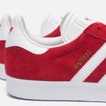 Кроссовки adidas Originals Gazelle Red/White/Gold Metallic фото- 6