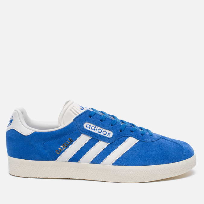 Мужские кроссовки adidas Originals Gazelle Super Blue/White/Gold Metallic
