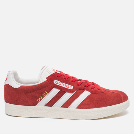 adidas Originals Мужские кроссовки Gazelle Super Red/White/Gold Metallic