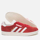 Мужские кроссовки adidas Originals Gazelle Super Red/White/Gold Metallic фото- 2