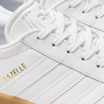 Мужские кроссовки adidas Originals Gazelle White/White/Gum фото- 6