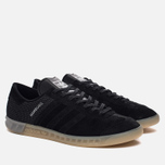 Мужские кроссовки adidas Originals Hamburg Tech Core Black/Core Black/Silver Metallic фото- 1