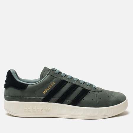 Мужские кроссовки adidas Originals Munchen PU Raw Green/Core Black/Core White