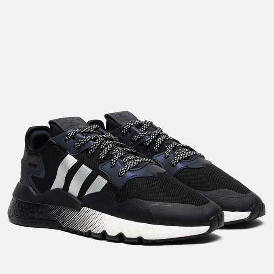 Мужские кроссовки adidas Originals Nite Jogger Core Black/Silver Metallic/White