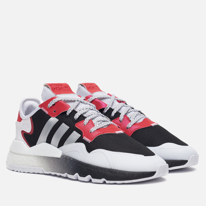 Мужские кроссовки adidas Originals Nite Jogger Core Black/Silver Metallic/White/Pink