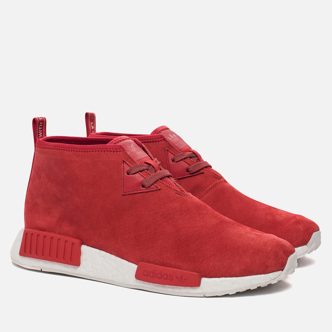 Мужские кроссовки adidas Originals NMD C1 Chukka Boost Lush Red/Lush Red/White