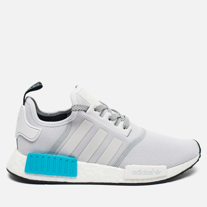Мужские кроссовки adidas Originals NMD R1 Bright Cyan/White