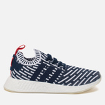 Кроссовки adidas Originals NMD R2 Primeknit Collegiate Navy/Collegiate Green/White фото- 0
