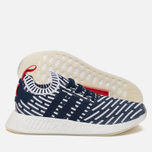 Кроссовки adidas Originals NMD R2 Primeknit Collegiate Navy/Collegiate Green/White фото- 1