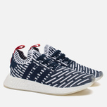 Кроссовки adidas Originals NMD R2 Primeknit Collegiate Navy/Collegiate Green/White фото- 2