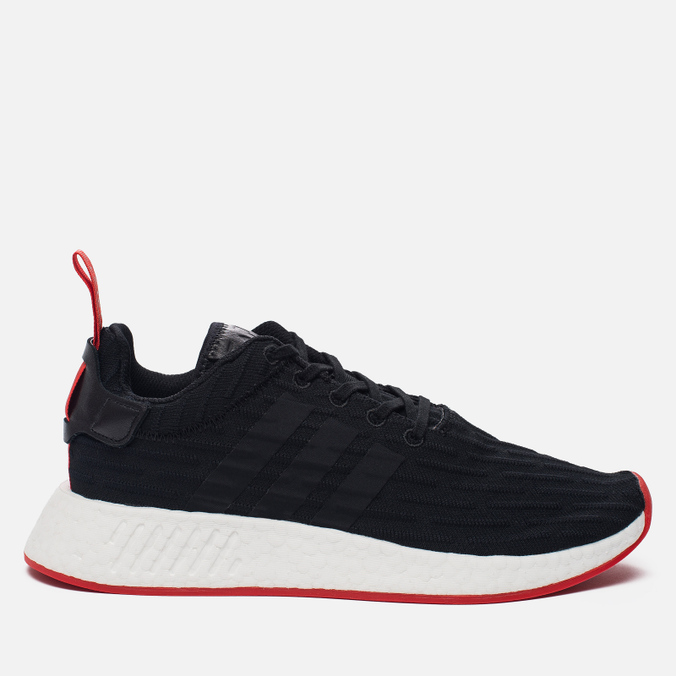 Кроссовки adidas Originals NMD R2 Primeknit Core Black Core Black Core Red  ... 6514048e90b