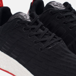 Кроссовки adidas Originals NMD R2 Primeknit Core Black/Core Black/Core Red фото- 3