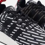 Кроссовки adidas Originals NMD R2 Primeknit Core Black/Core Black/White фото- 3