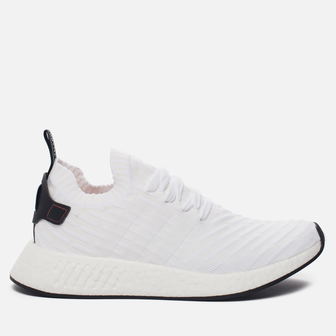 Мужские кроссовки adidas Originals NMD R2 Primeknit Running White/Core Black/Running White