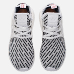 Кроссовки adidas Originals NMD XR1 Primeknit Zebra White/White/Core Red фото- 3