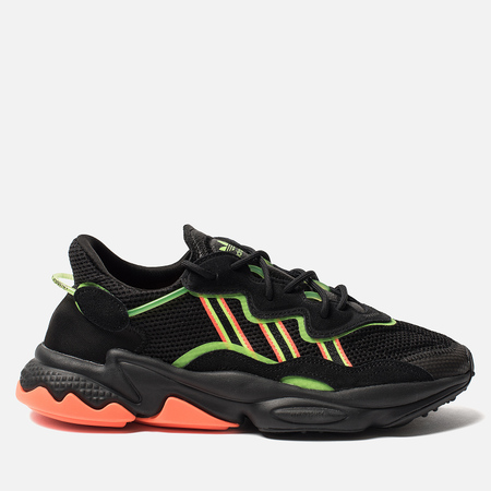 Мужские кроссовки adidas Originals Ozweego Core Black/Solar Green/Hi-Res Coral