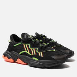 Кроссовки adidas Originals Ozweego Core Black/Solar Green/Hi-Res Coral