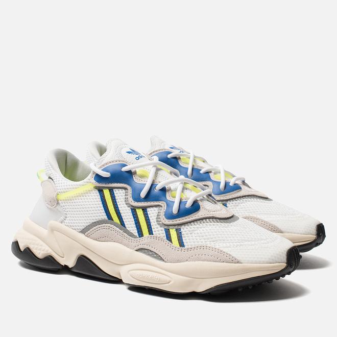Кроссовки adidas Originals Ozweego White/Grey One/Solar Yellow