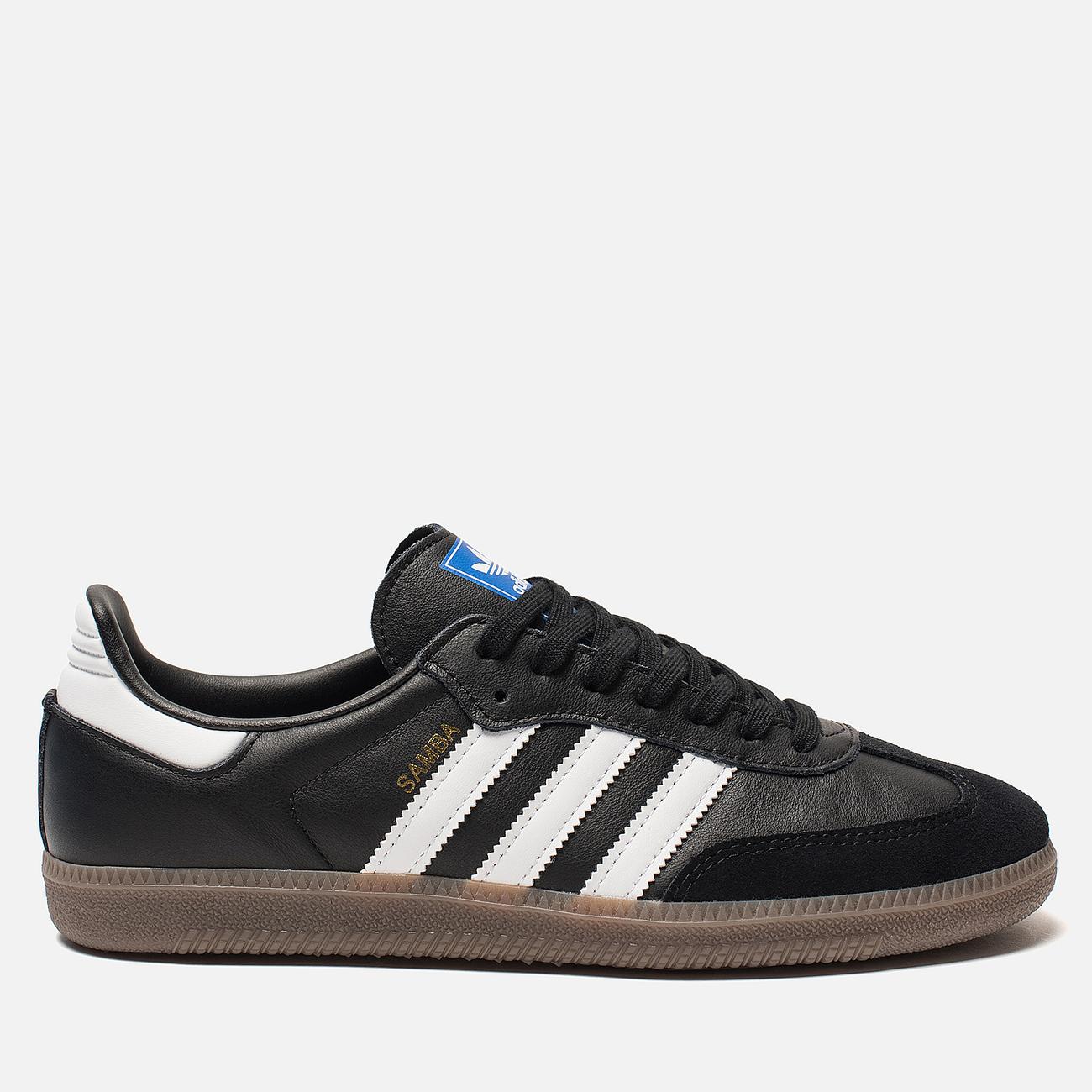 Мужские кроссовки adidas Originals Samba OG Core Black/White/Gum
