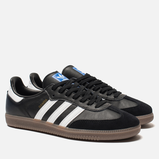 Мужские кроссовки adidas Originals Samba OG Core Black/White/Gum