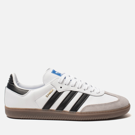 Мужские кроссовки adidas Originals Samba OG White/Core Black/Clear Granite