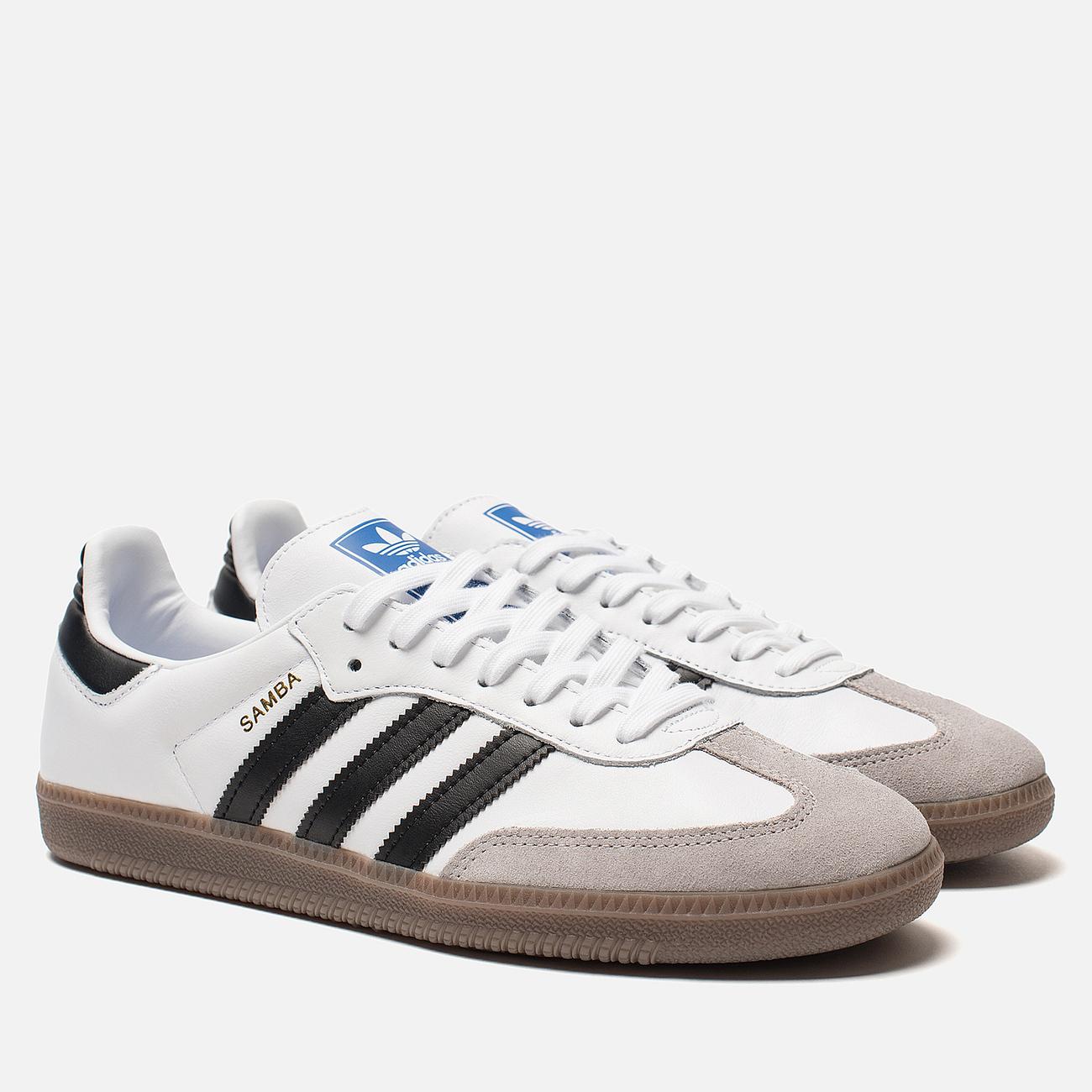 Кроссовки adidas Originals Samba OG White/Black/Clear Granite