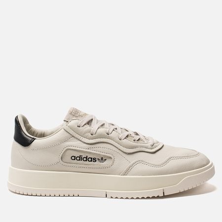 906084d99ace Мужские кроссовки adidas Originals Super Court Premiere Raw White Core  White Off White