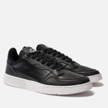 Кроссовки adidas Originals Supercourt Core Black/Core Black/White фото- 2